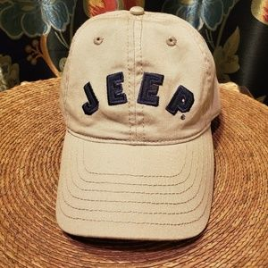 JEEP Khaki colored ball cap - like new!
